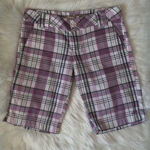O'Neill Plaid Bermuda Shorts